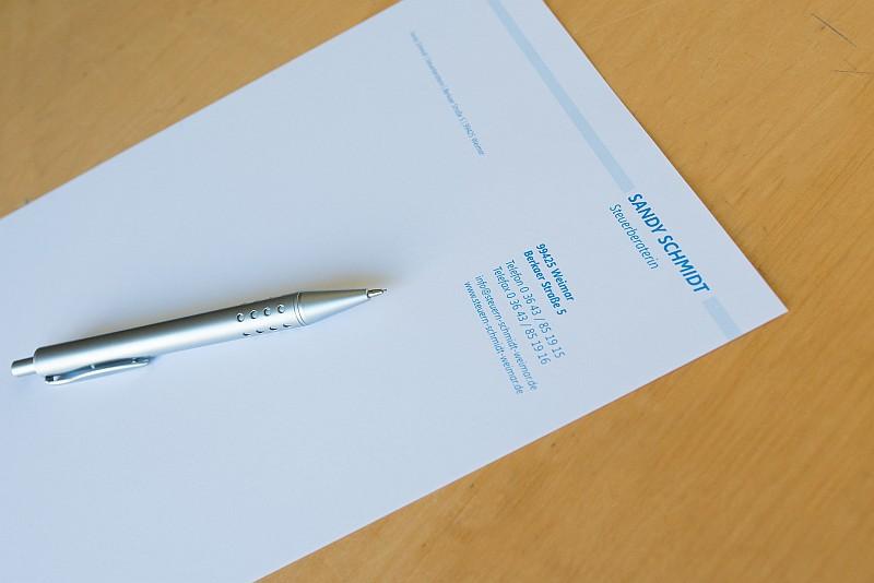Briefbogen (Foto: Eisenbeiß)